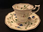 Early Victorian coffee cup & saucer